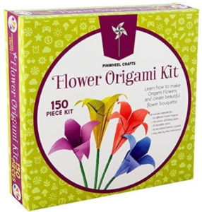 this is an image of an origami flower kit