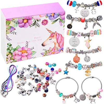 This is an image of a do it yourself charm bracelet making set for teens.