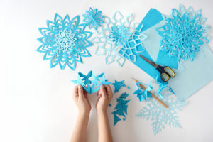 this is an image of paper snowflakes